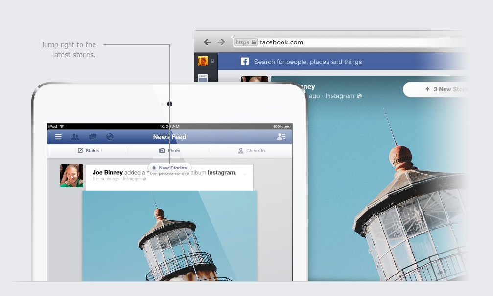 New Look Of Facebook News Feed