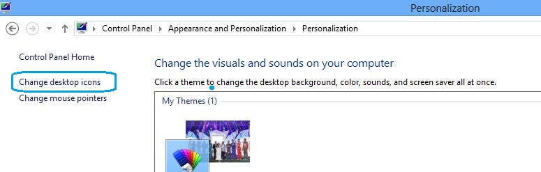 Change desktop icon on Windows 8