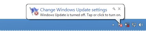 Update Notification on Windows 8 taskbar