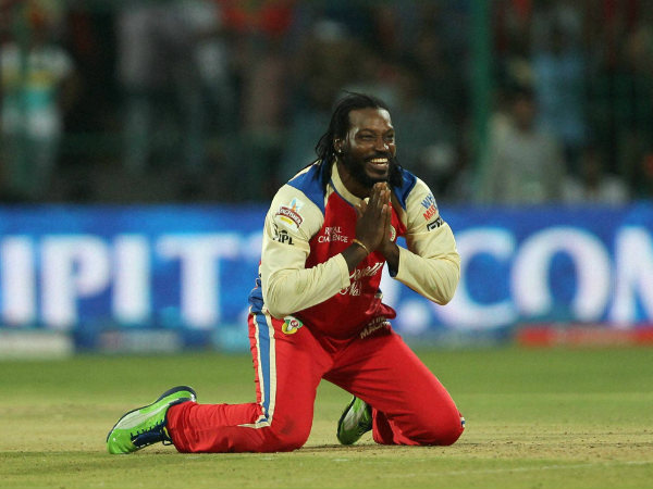 Chris Gayle Say Namaskar After a Huge Innings