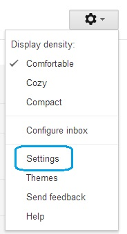 Settings on Gmail