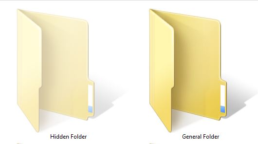 Hidden Folder and General Folder in Windows