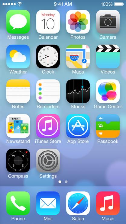 Iphone App Home Screen Design