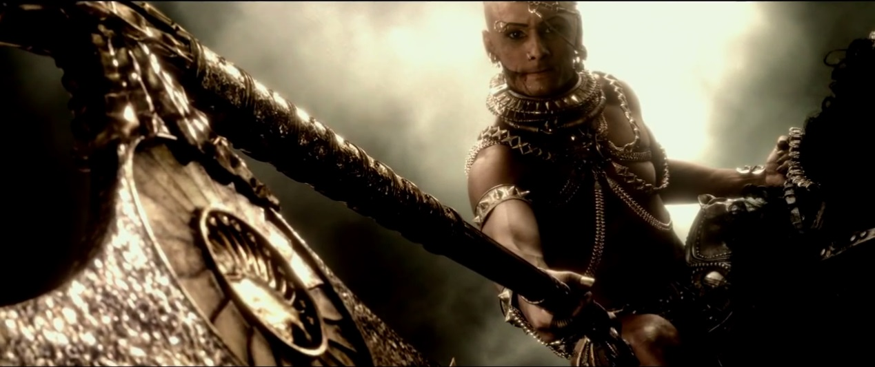 Persian god-King Xerxes in 300 Rise of an empire (2014)