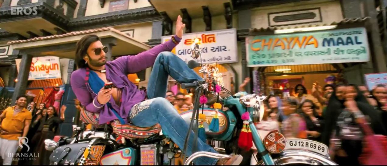 Ranveer Singh On Bike In Trailer of Ramleela