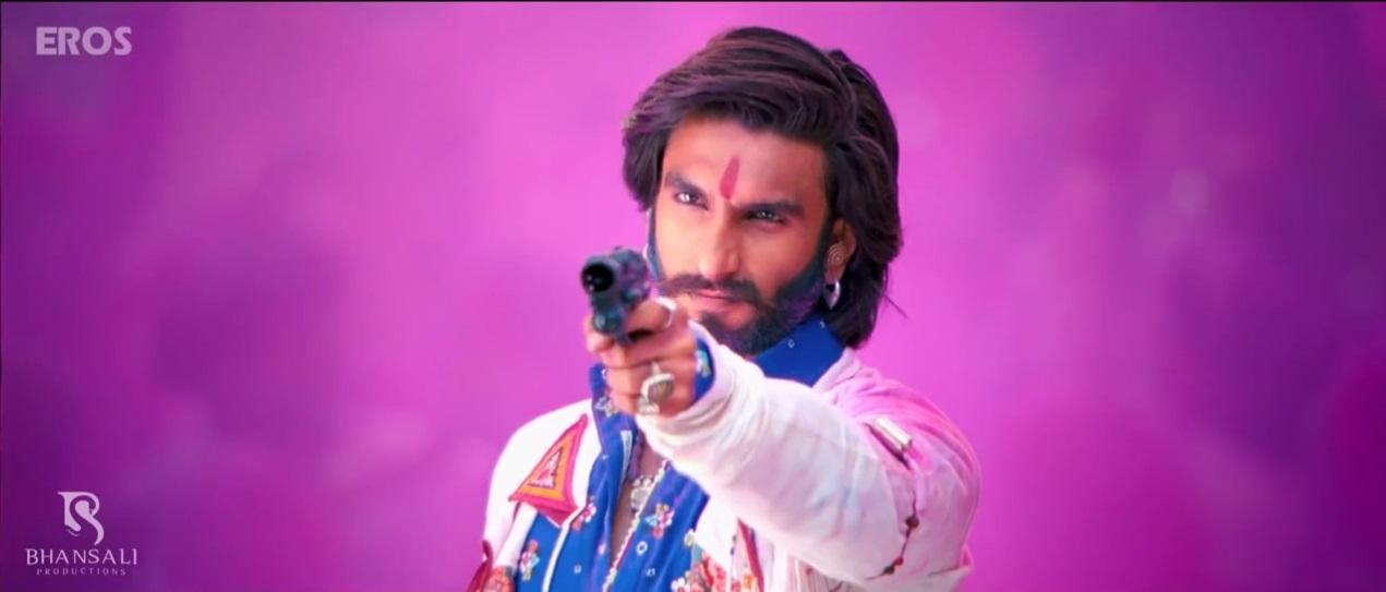Ranveer Singh Pointiong a Gun On The TRailer Of Ramleela
