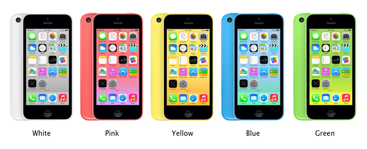 All Color iPhone 5C