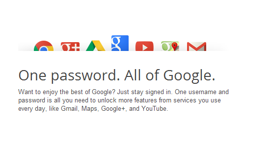 One UserName and one Password for all Google Products